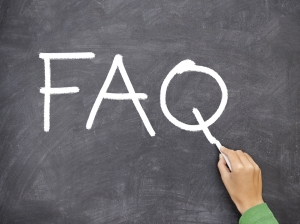 FAQ, question blackboard